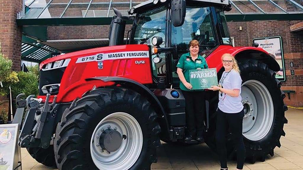 Myra Smith (left) teamed up with Morrisons' Sophie Jenkinson who is part of the agricultural team.