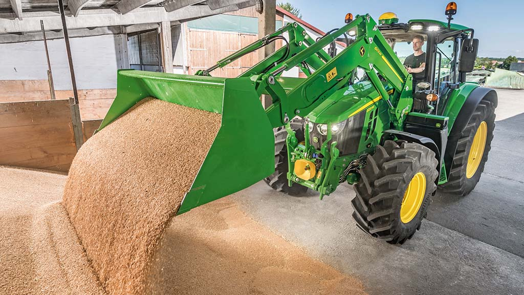 New M Series front end loader range from John Deere suits tractors up to 155hp