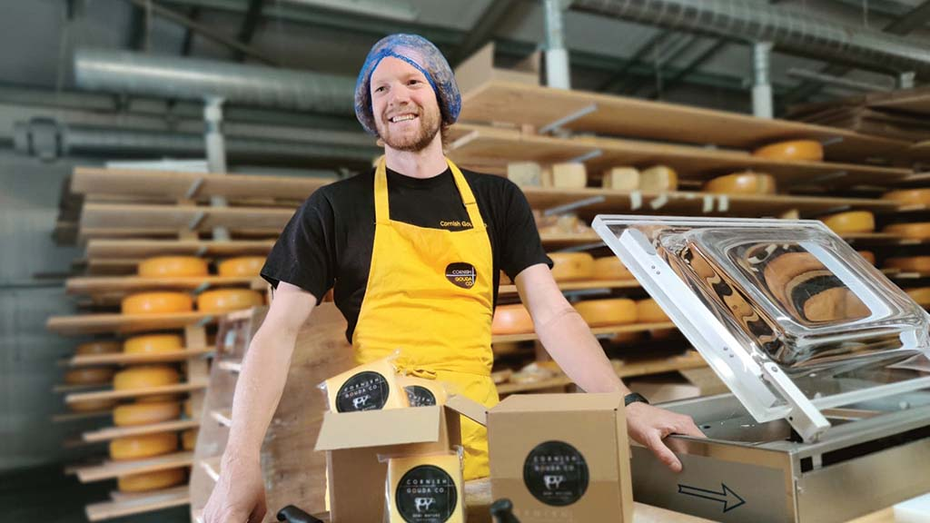 Giel Spierings, cheese supplier, Cornwall