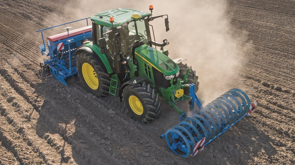 John Deere adds continuously variable transmission option to compact 6M Series tractors