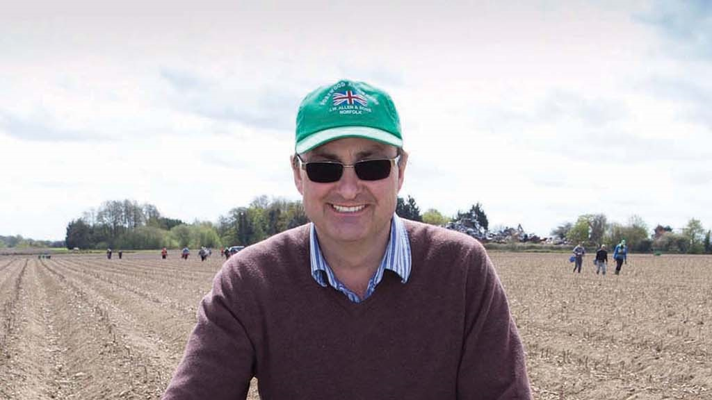 Andy Allen, asparagus supplier, Norfolk