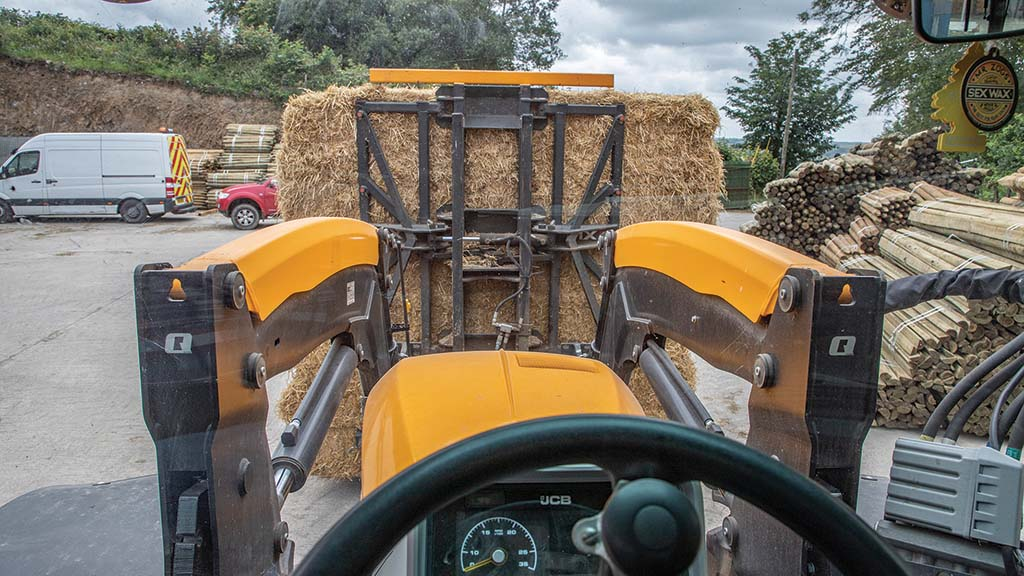 Loader visibility is far better for bale stacking and trailer loading than it is for swapping attachments.