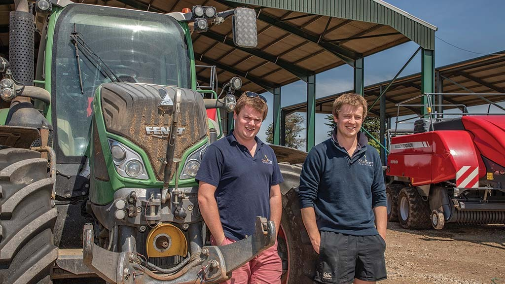 Charlie (left) and Alastair Kruse believe service history and original parts are good indicators of tractor longevity.
