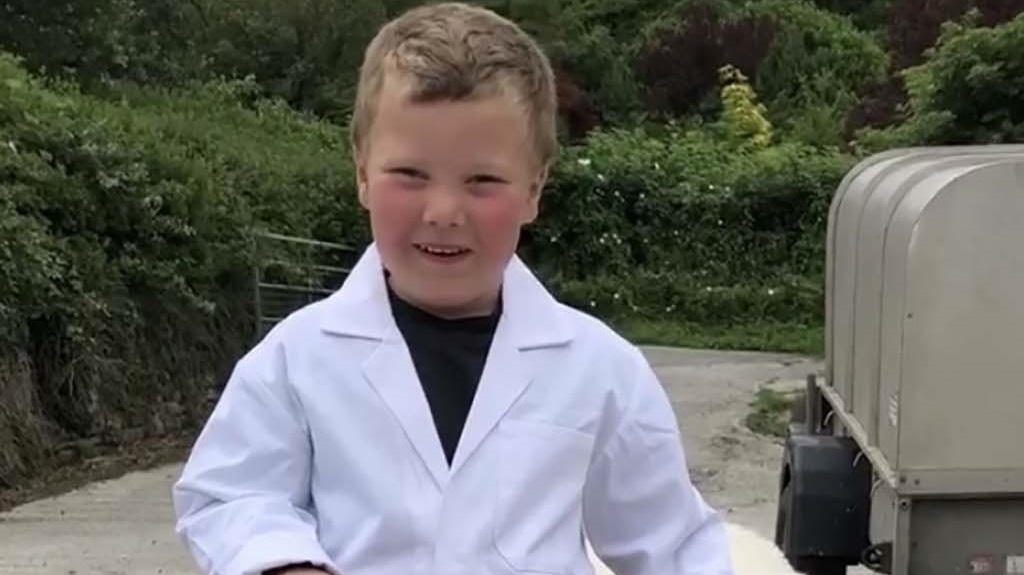 Four-year-old Freddie raises £2,000 for NHS  Charities Together