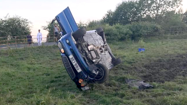Drink driver crashes into prize-winning highland cow