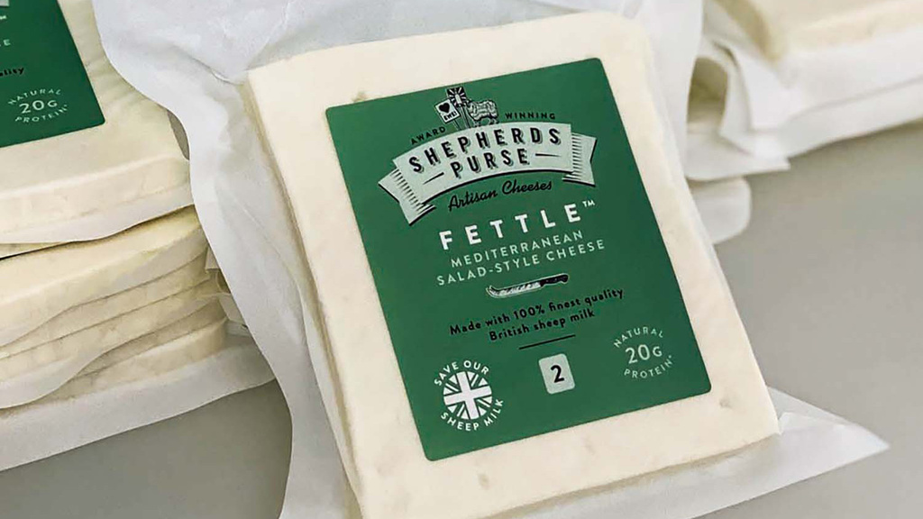 The Shepherd's Purse Fettle cheese is a Yorkshire twist on the popular Feta cheese.