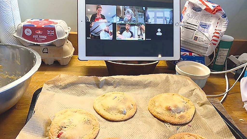 Emma Kettlewell led an online bake-off meeting of Worth Valley YFC in Yorkshire
