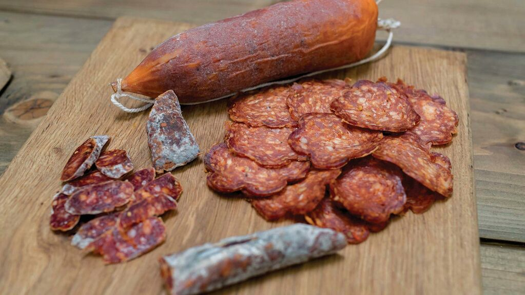 Crisps, salami snacks and others all form part of the pair's different range of products.