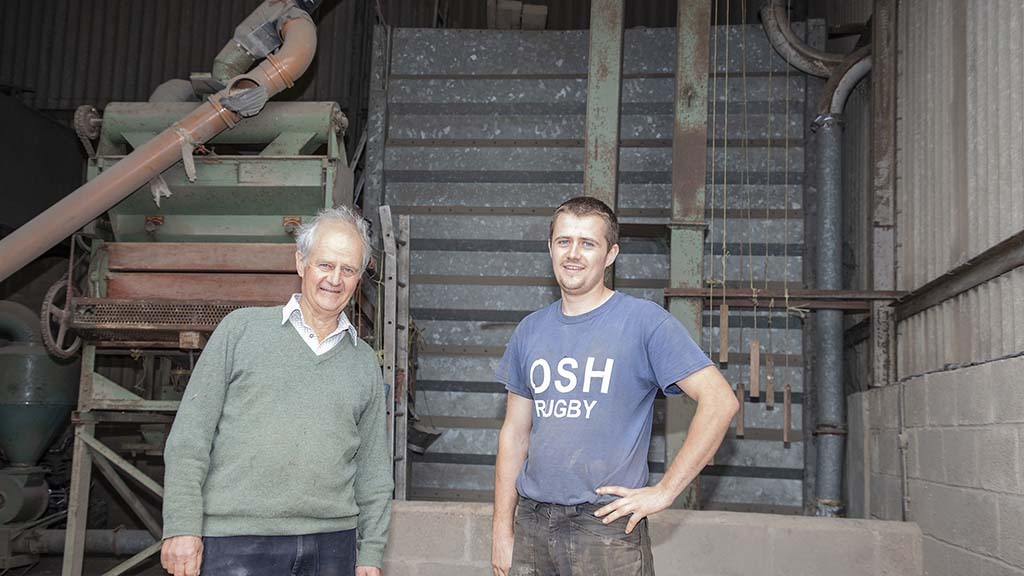 Peter (left) and Richard Eayrs are pleased with their decision to buy their own combine in place of using a contractor.