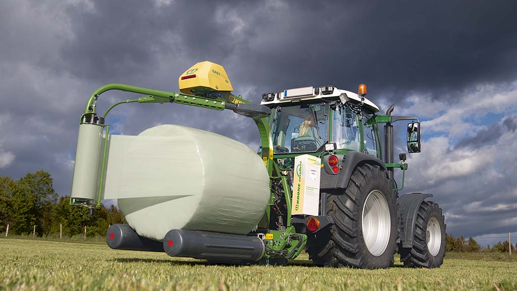 Krone expands portfolio with EasyWrap round bale wrapper