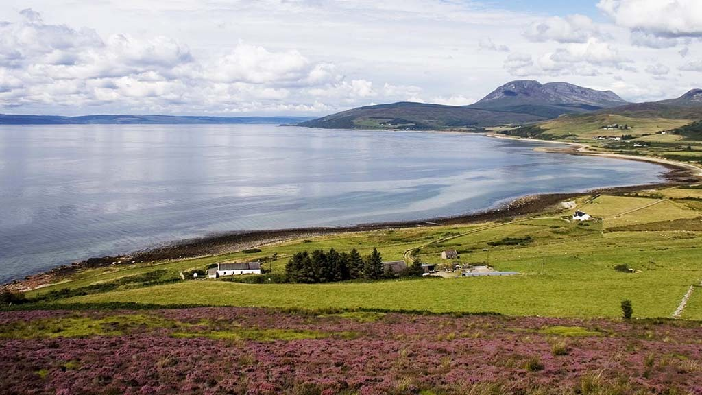 Because of its wide-ranging topography, Alexander Pirie says Arran is 'a miniature Scotland'.
