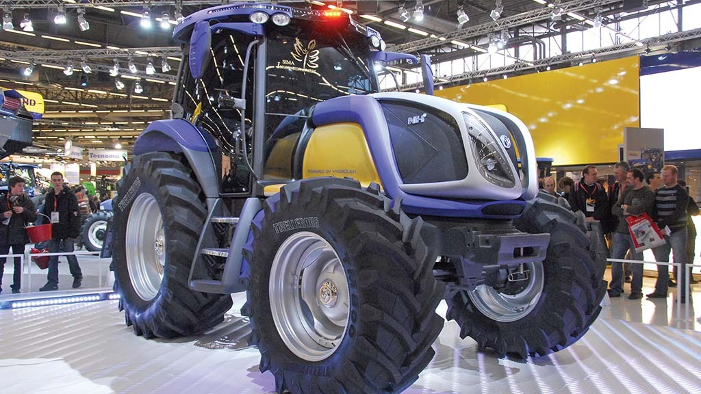 It is possible to produce a hydrogen powered tractor, as New Holland showed with its NH2 concept in 2009.