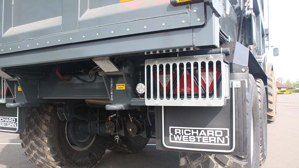 Light guards, such as on this Richard Western SF20, offer additional protection on tougher jobs.