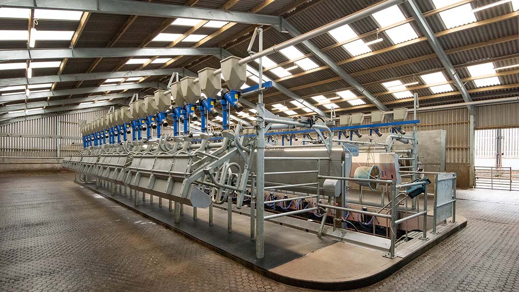Harry Roper's most recent investment was in a new DeLaval P2100 rapid exit parlour.
