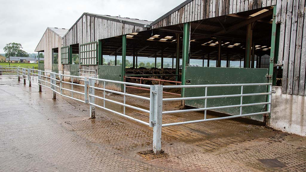 Sturdy gates leading to the parlour.