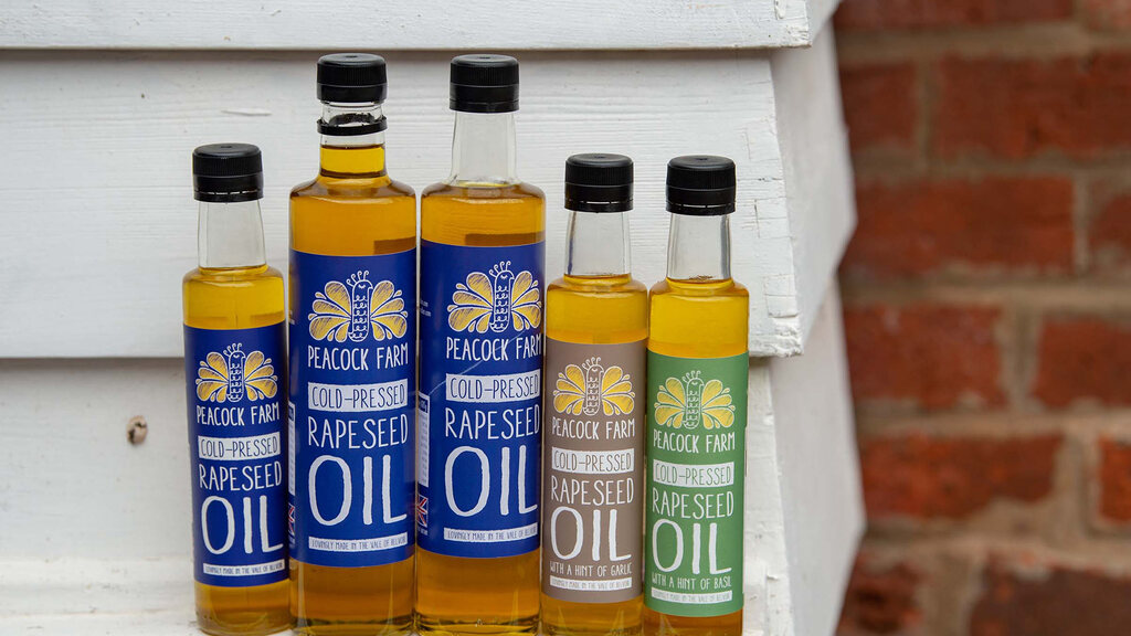 Their rapeseed oil is all grown and pressed on-farm.