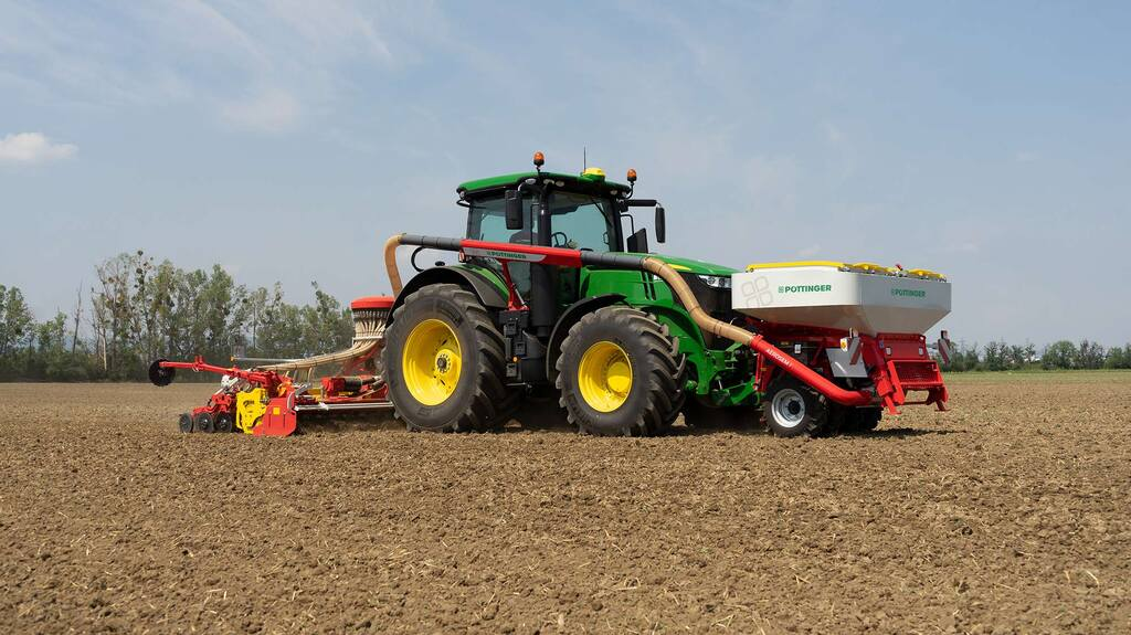 Pottinger adds folding combi-drill and front tank to seeding arsenal