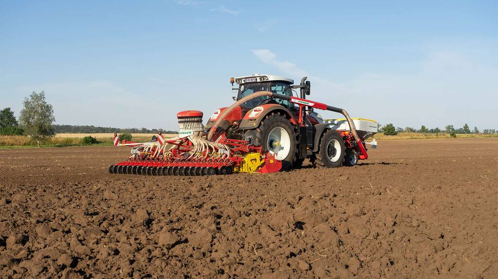 The new combi-drill from Pottinger is available in four and five metre working widths.