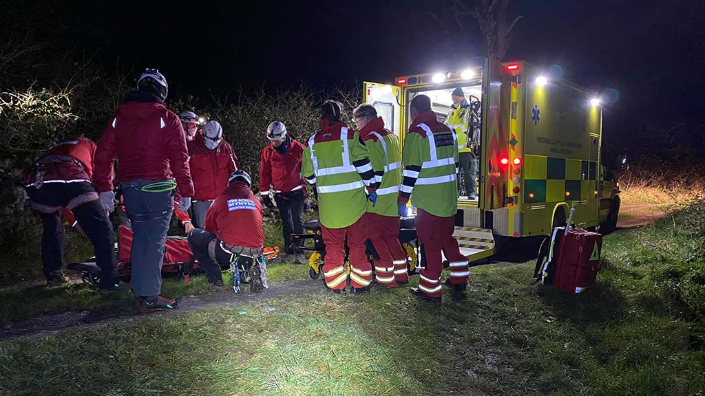 Farmer in 'serious but stable condition' after falling into a quarry