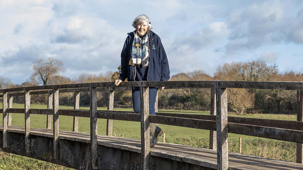 Bere Marsh farm manager Elaine Spencer-White.