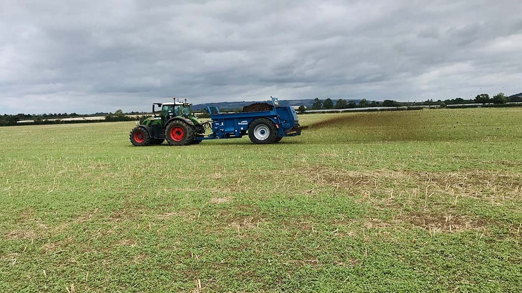 User review: Bunning's most compact rear discharge spreader hard at work