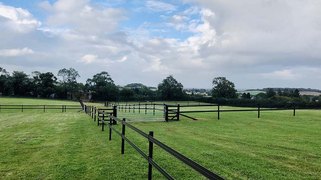 'High end' equestrian fencing with products such as Horserail reduces the risk of injury.