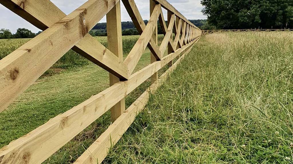 JC Countryside Services offers more than just stock fencing, such as this unusual timber design.