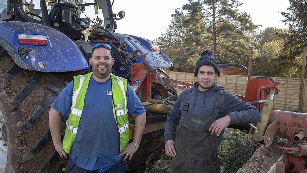 Gareth Creed (left), with operator Mike Spurdle.