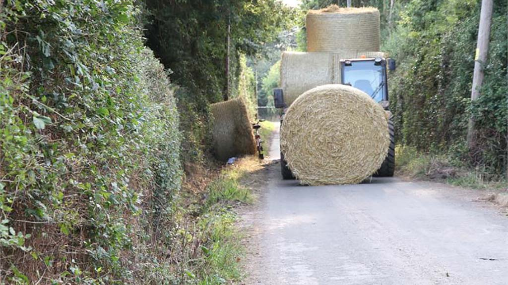 Tractor driver sentenced for hay bale accident that left cyclist with serious injuries