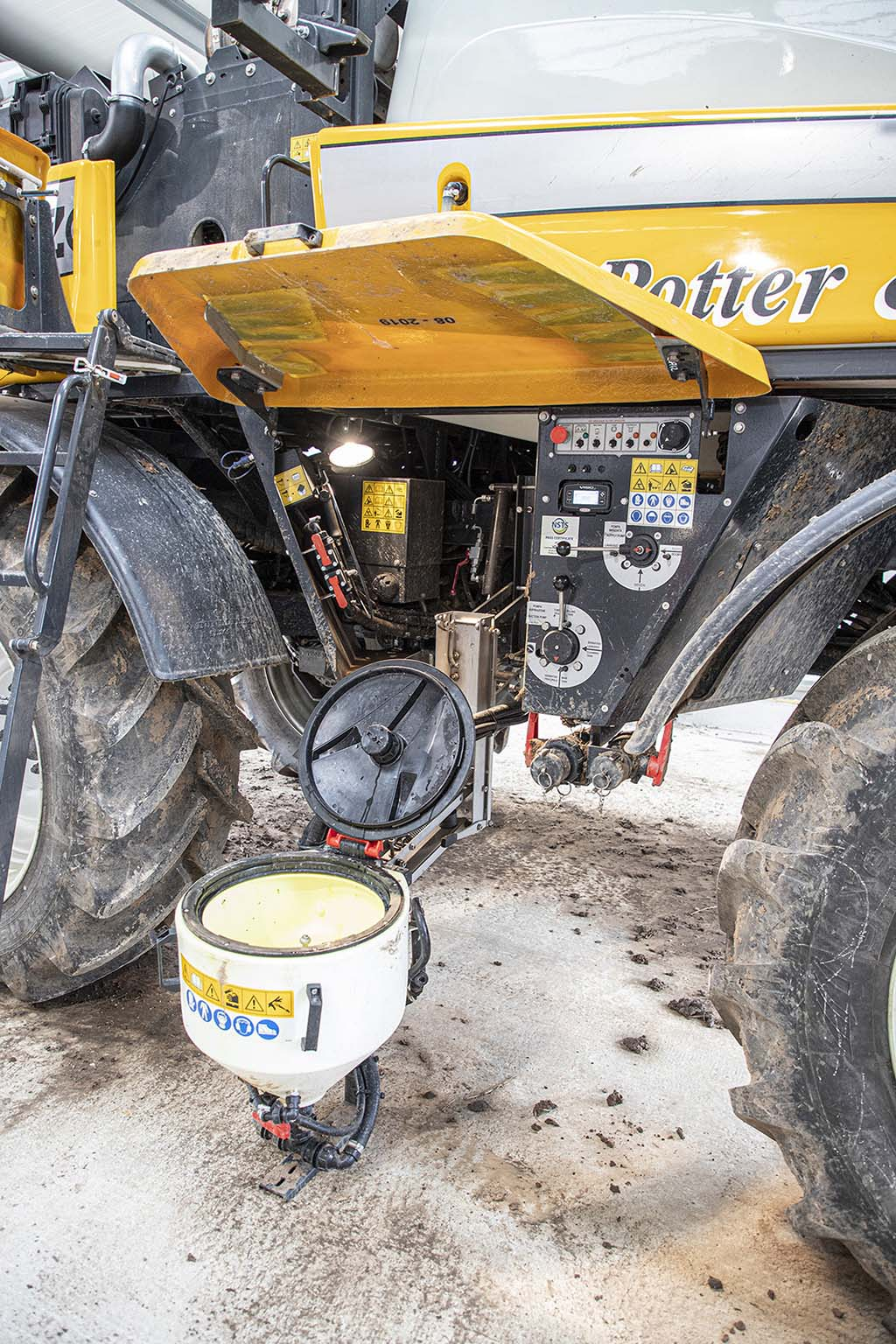 Induction area would benefit from mudguard extensions for better protection against dirt and debris.