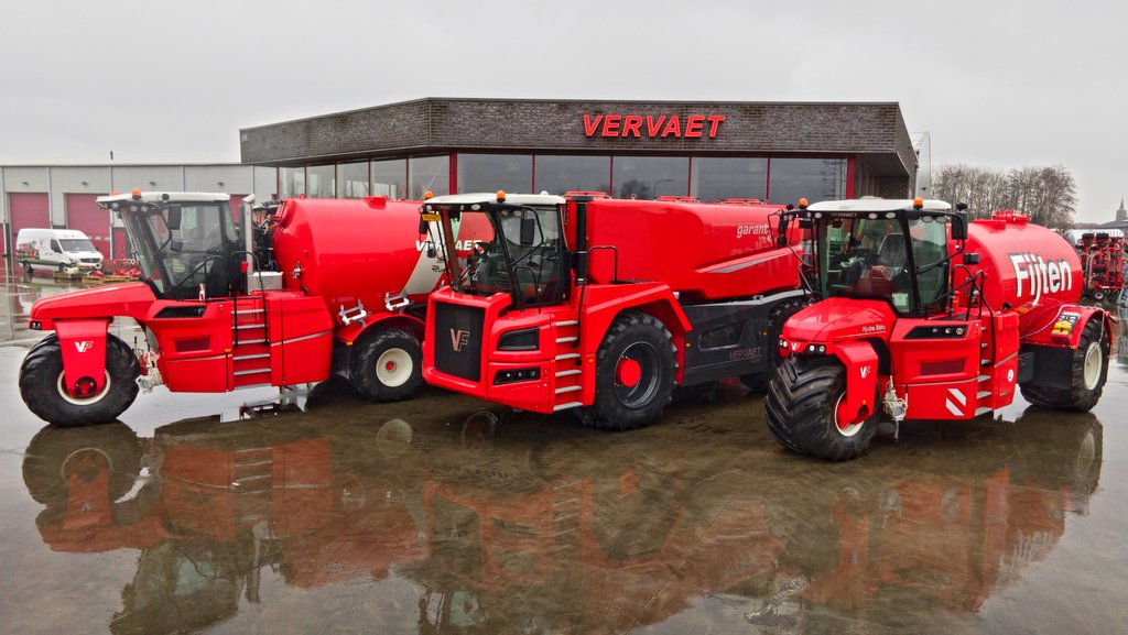 Vervaet's new four-wheeler sits perfectly between its three and five wheel 'Trike' machines.