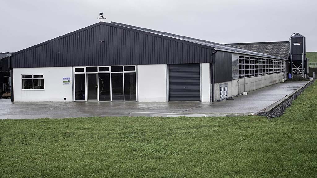 The new milking parlour shed