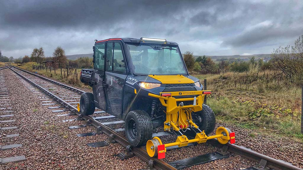 Polaris Ranger UTV gets major conversion to work on railways