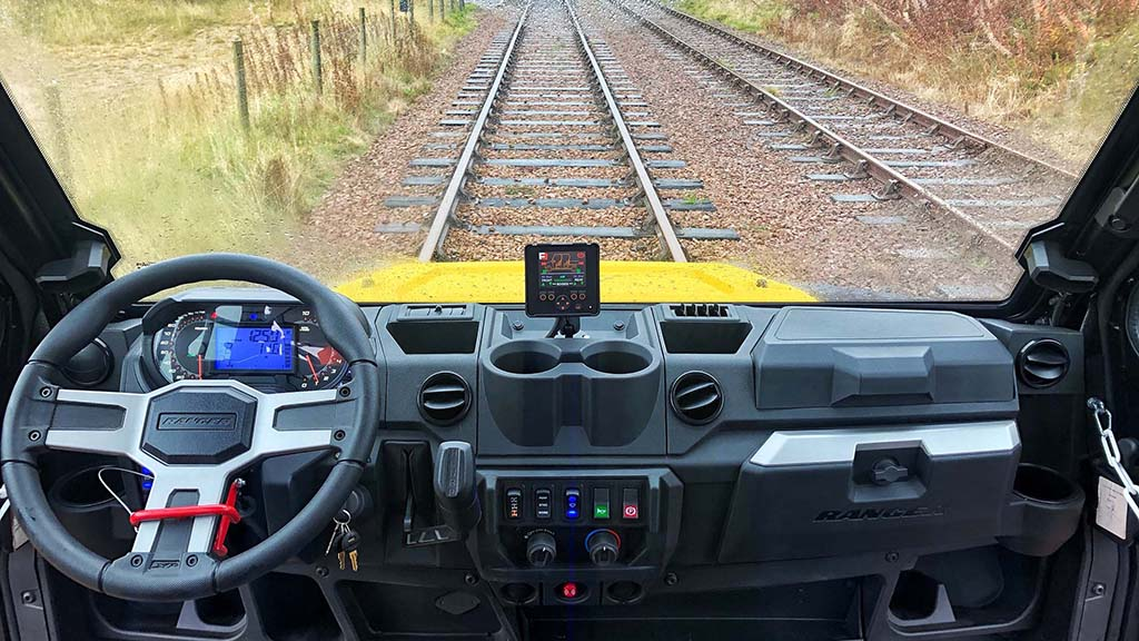 The Ranger is supplied with displays which offer equipment monitoring and telematics functions.