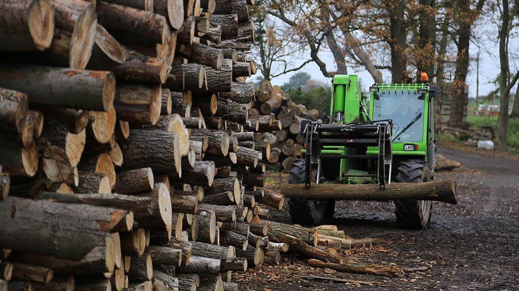 Farm diversification business sees renewable energy used to dry logs