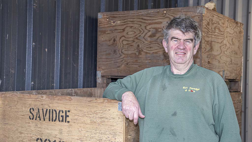 Mark Savidge of BH Savidge says the bagging trailers have brought many benefits to his potato operation.