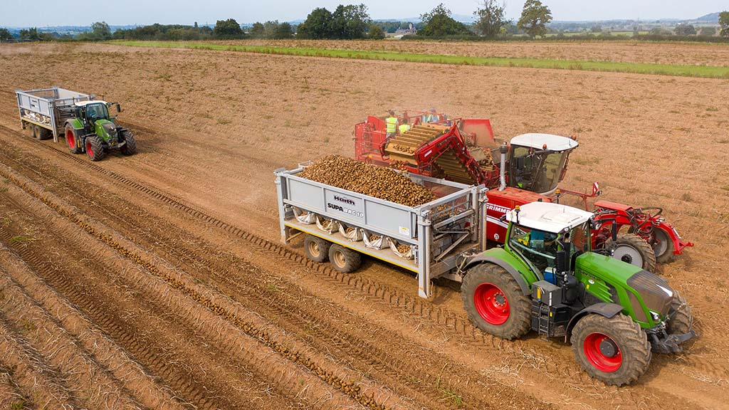 The Haith Supabag trailer holds 13 tonnes - enough to fill 10 bulk bags with crop.