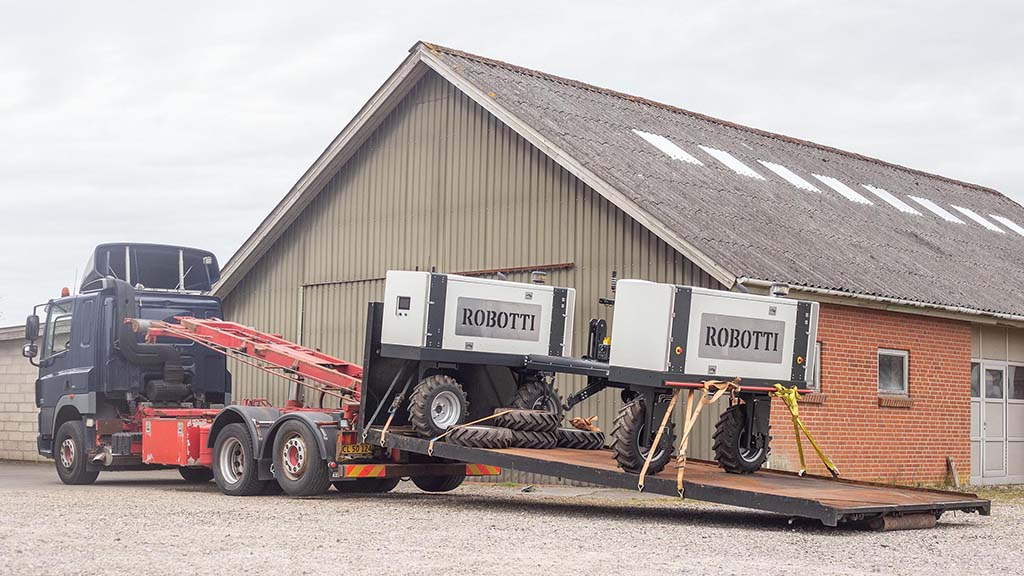 Based in Denmark, Agrointelli describes its Robotti as a versatile autonomous robotic tool carrier, designed for solving multiple tasks in the field throughout the complete farming season