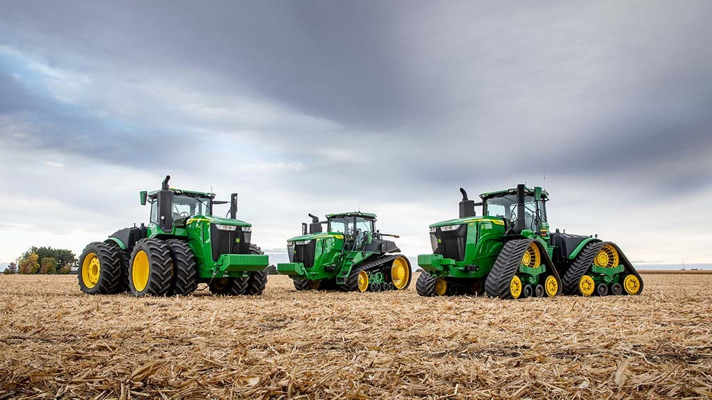 Power and technology boost for John Deere's flagship 9R tractor range