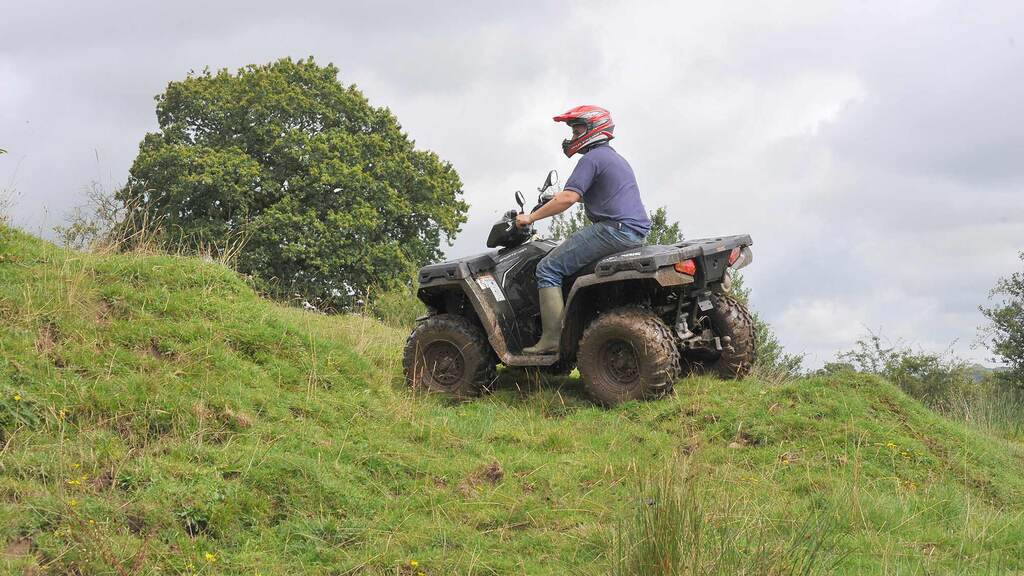 Two thirds of farmers do not wear a helmet when riding ATVs