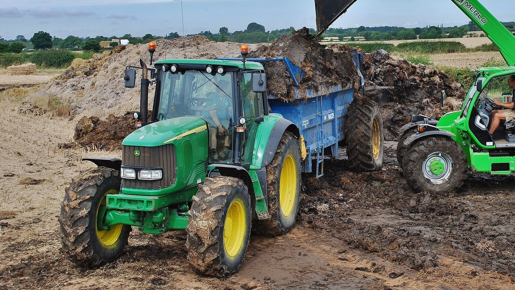 John Deere 6920 is extensively used for road work and tasks such as muck spreading.