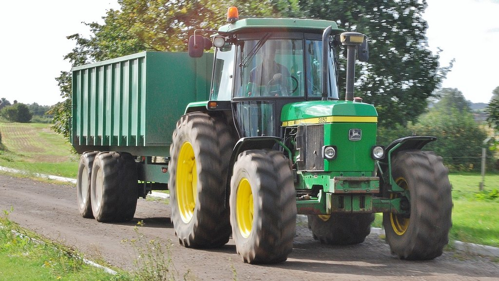 John Deere 3650 is the oldest tractor, today used primarily on a Keenan diet feeder.