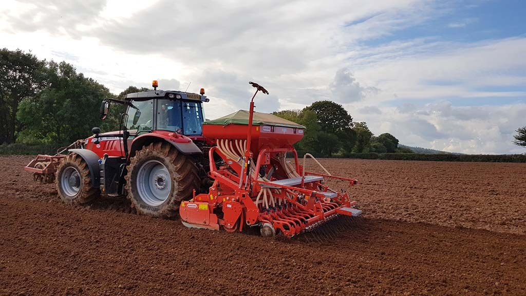Powering the drill is a Massey Ferguson 7718 tractor, which Mr Hockridge says is on top of the job, though, the weight of a front press is needed for stability.