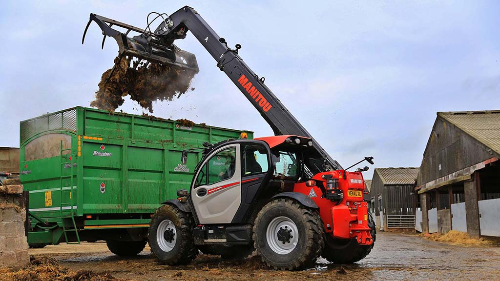 The Manitou MLT 841-145 PS+ NewAg XL is the French manufacturer's smaller of the two new 'XL' telehandlers.