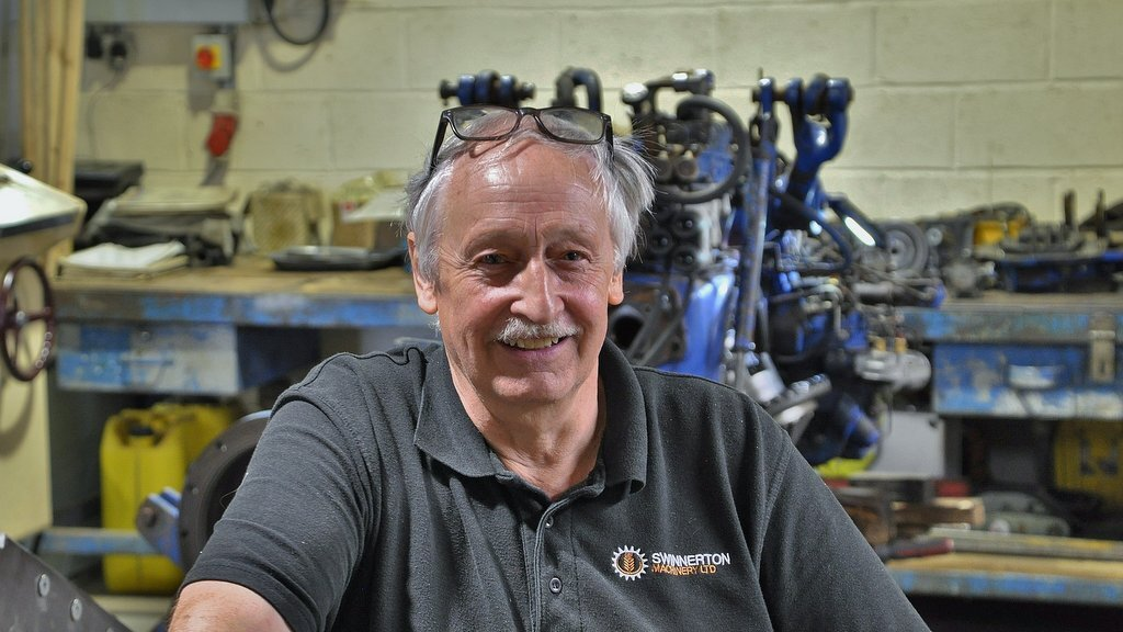 Nicknamed the Guru, agricultural engineer Chris Wilson started working at Swinnerton Machinery in 2015. He had previously spent 44 years working for Hallmark Tractors at its former Ashby depot.