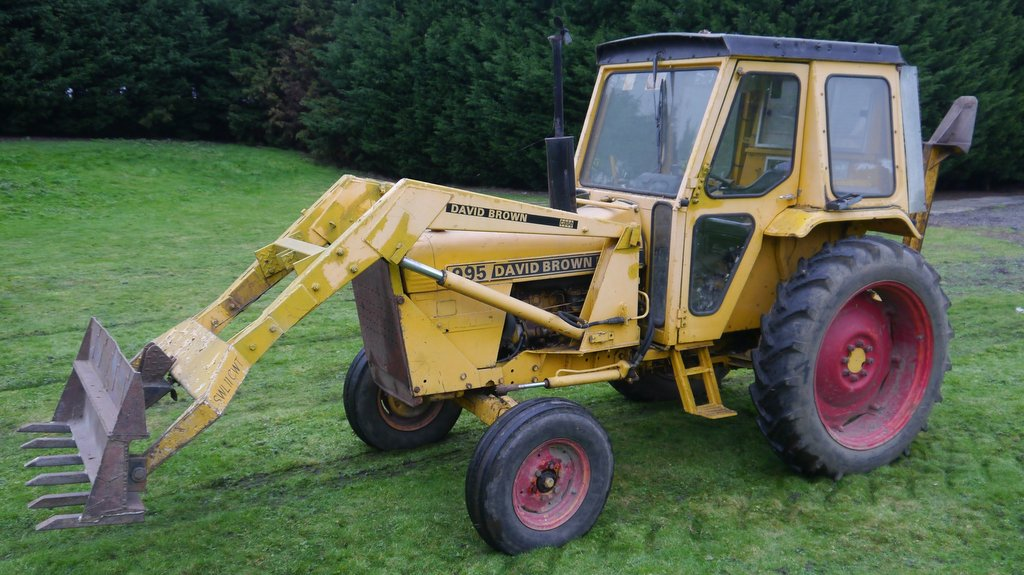 A 995 David Brown, complete with loader, fetched £7,800.