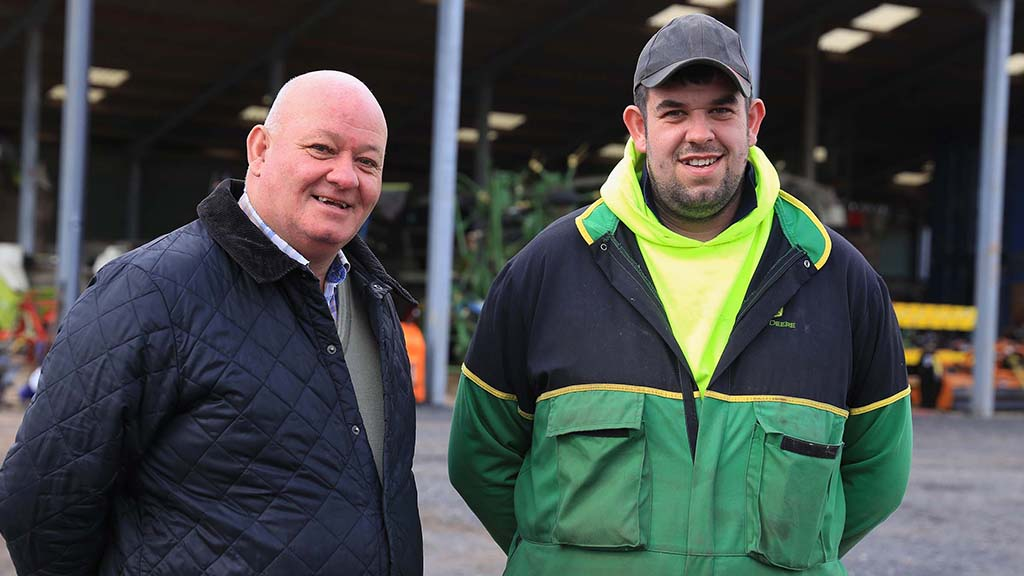 Andrew and Rob Moore have developed an undersowing system that was used successfully in 2020.