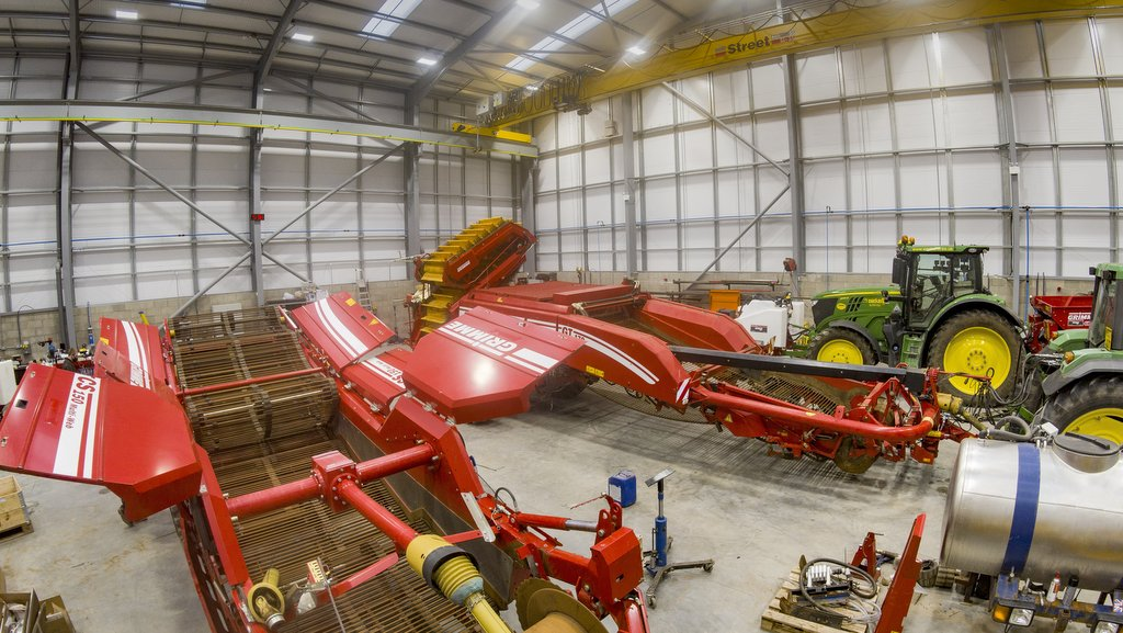 Grimme depots offer extensive workshop space for service and repairs in regions where many of the UK's root crop growers are based.