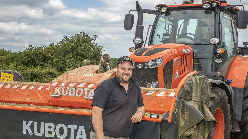 Henry Spencer, who has committed to four Kubota tractors on the family's mixed farm.