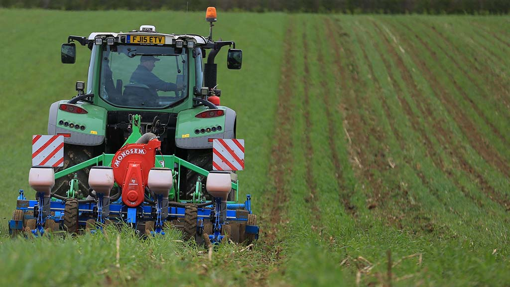 About a hectare per hour can be planted, with three operations completed per pass.